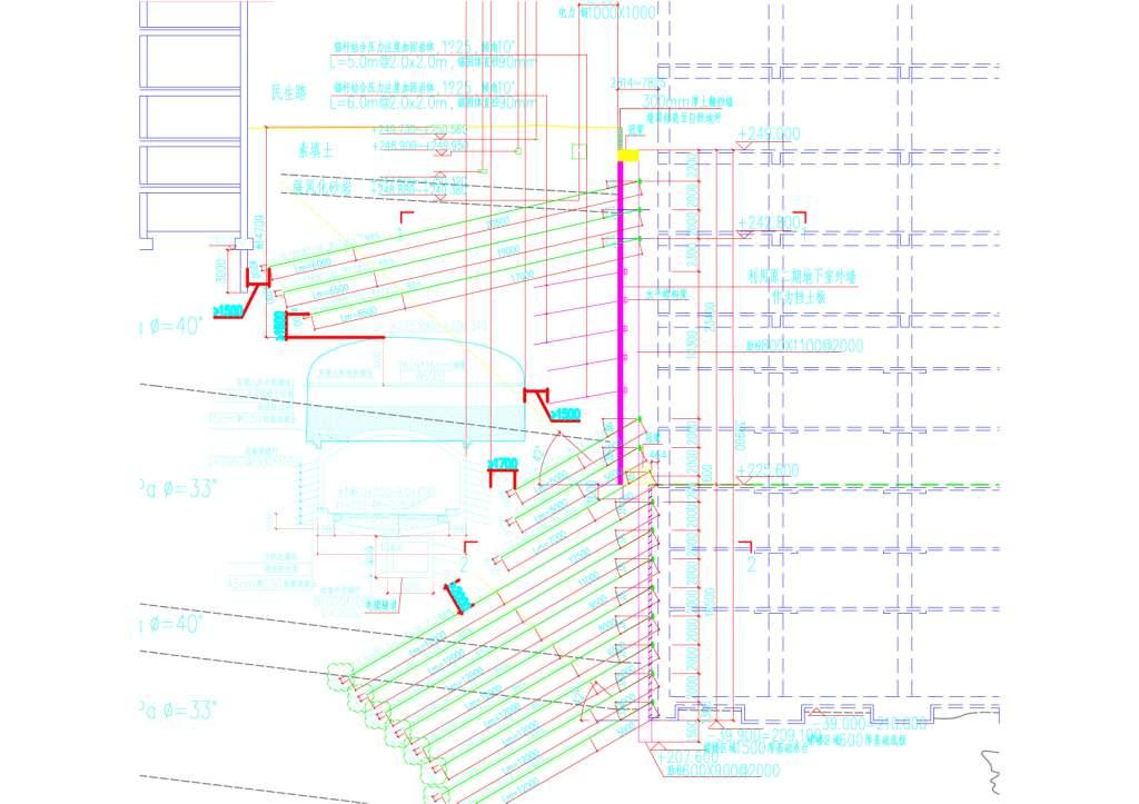 某43米深基坑改造项目现场施工难点介绍